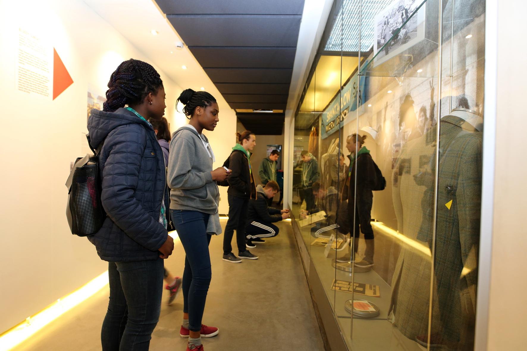 visitors inside the museum of free derry