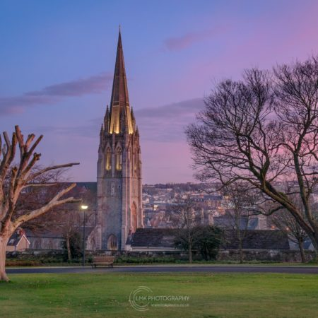 St Eugene's Cathedral at sunset